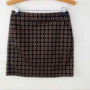 LOFT | Floral Medallion Skirt